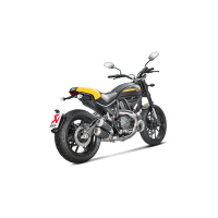 Akrapovic Black Titanium GP Slip-On Exhaust Ducati Scrambler / Monster 797