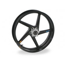 BST Diamond TEK 5 Spoke Carbon Fiber Front Wheel for the Kawasaki ZX-6R 636 (05-15) ZX-10R (06-15) and ZX-14 / 14R and 2009 ZRX1200 - 3.5 x 17