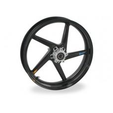 BST Black Diamond 5 Spoke Carbon Fiber Front Wheel for the Ducati Monster, 748/916/996/998, STS/ST4/ST4S/620ie/900 (93-02) - 3.5 x 17