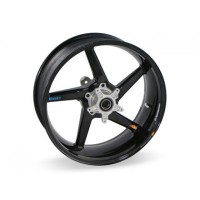 BST Diamond TEK 5 Spoke Carbon Fiber Rear Wheel for the Suzuki GSX-R750 / GSX-R600 (2011+) - 6.0 x 17