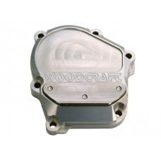 WOODCRAFT Kawasaki 600RR / 636 (03-06) RHS Ignition Cover Assembly Clear Anodize with Gasket + Skid Plate Kit