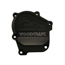 WOODCRAFT Kawasaki 600RR / 636 (03-06) RHS Ignition Cover Assembly Black + Skid Plate Kit Choice (44OH)