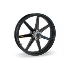 BST Carbon Fiber Front Wheel for the BMW K1200 S/R/GT and K1300 S/R - 3.5 x 17 - 7 Straight Spoke