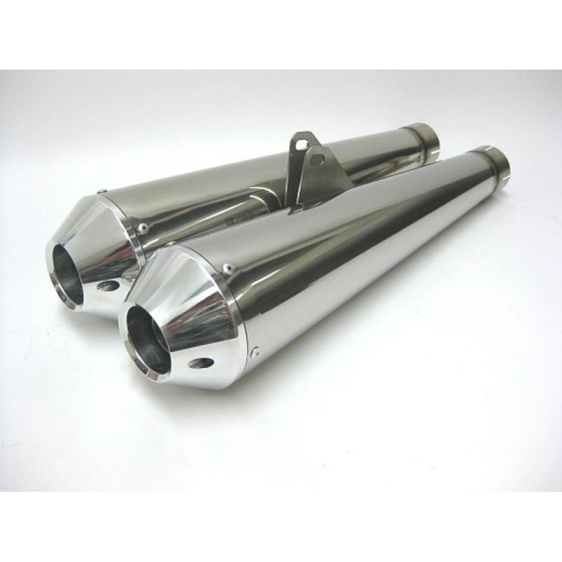 QD Exhaust MaXcone Megaphone Twin Muffler Set - TRIUMPH BONNEVILLE