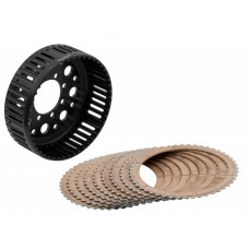 CNC Racing 48 Tooth Ergal Dry Clutch Basket and Organic Plate Kit