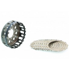 CNC Racing 12 tooth Friction Plate and Basket kit For Ducati's with a Dry Clutch and Mastertech Slipper Clutch
