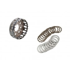 CNC Racing 12 tooth Friction + Driven Plate and Basket kit For Ducati's with a Dry Clutch and Mastertech Slipper Clutch