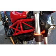Motobox Slimline LED Flush Mount Fork Turn Indicators for the Ducati Monster (02-07) (Splice or Bullet connector)