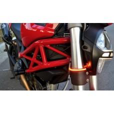 Motobox Slimline LED Flush Mount Fork Turn Indicators for Ducati Scrambler - PLUG AND PLAY!!!