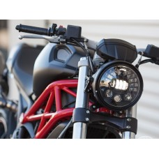 Motodemic LED and Round Halogen Headlight Conversion Kit for the Ducati Monster 1100/796/696