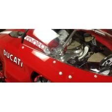 Motobox - Radiantz Mirror Block offs for Ducati Sport Classic Models (With Front Fairing)