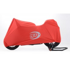 R&G Racing Tailored Indoor Dust Cover for Ducati Panigale 899/1199/1299  red  with silver graphics