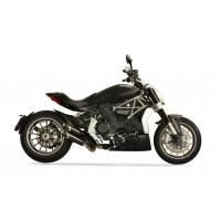 Quat-D Exhaust 2-2 'TWIN MONKEY' Slash Cut Exhaust System for Ducati XDiavel