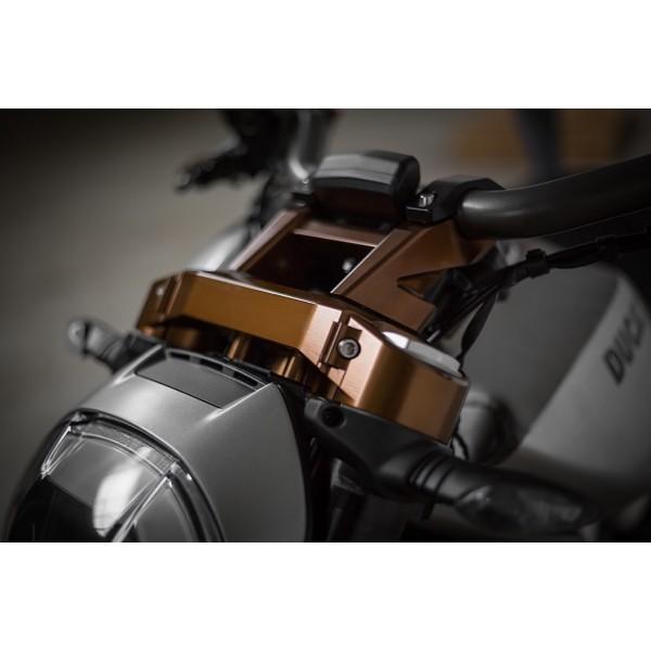 AEM Factory - Billet Triple Clamp kit for the XDiavel (Riser Handlebar clamp sold seperately)