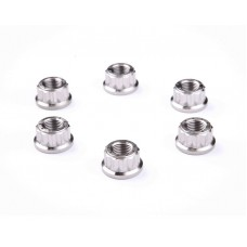 Motocorse set of 6 Titanium Rear Hub Flange (Sprocket Carrier) nuts for Ducati