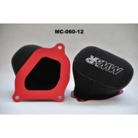 MWR Performance Two Piece Filter Kit For MV Agusta BRUTALE 675 / 800  STRADALE 800  RIVALE 800  DRAGSTER 800 & TURISMO VELOCE 800 (up to 2017)