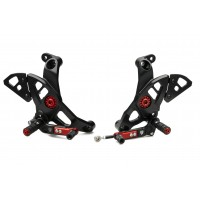 CNC Racing Adjustable Rearsets for Ducati Monster 1200R,  2017+ 1200 / S, 2018+ 821, and 2017+ Supersport /S
