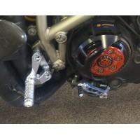CNC Racing Adjustable Rearsets For Ducati Streetfighter - Titanium Color