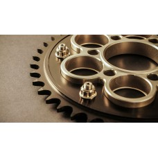AEM FACTORY -  DUCATI ALUMINUM 6 HOLE QUICK CHANGE SPROCKET CARRIER w/ TI NUTS