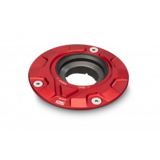 CNC Racing 'GEAR' Aluminum Gas Cap Flange for Older Ducati's  MV's and Yamaha Models