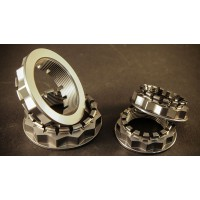 AEM FACTORY - DUCATI'S WITH SINGLE SIDED SWINGARM LARGE TITANIUM REAR WHEEL NUTS