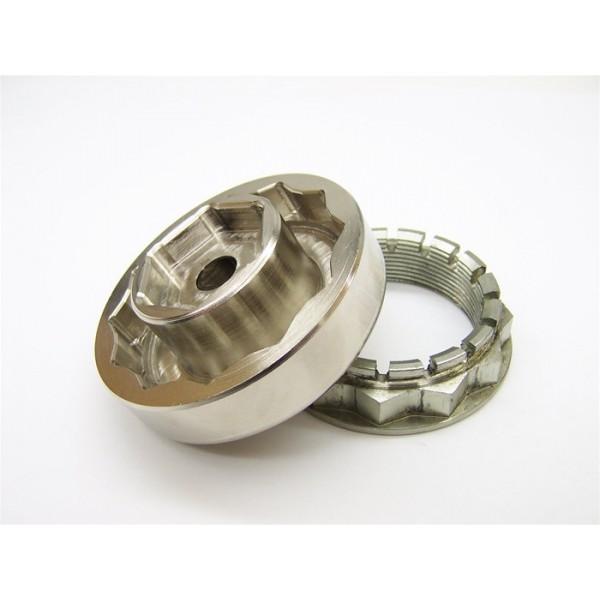 MotoMFG Steel 55/30mm Rear/Front Axle Nut Combo Tool