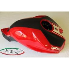 CARBONVANI - DUCATI 899 PANIGALE CARBON FIBER PETROL TANK  RED/MATT