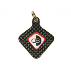 Ducabike Carbon Fiber Key Fob (Ring)