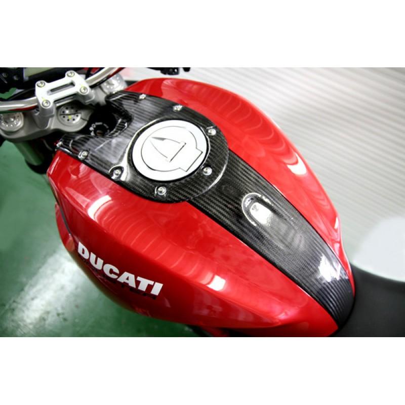 Carbondry Ducati Monster 696 796 1100 Carbon Fiber Tank Cover Set