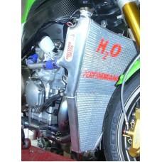Galletto Radiatori (H2O Performance) Oversize Radiator kit For Kawasaki ZX-6R NINJA (2005-06)