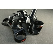 AEM FACTORY - DUCATI MONSTER 696 / 796 / 1100 UPPER & LOWER TRIPLE CLAMPS & BAR RISERS