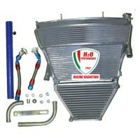 Galletto Radiatori (H2O Performance) Oversize Radiator and Oil Cooler kit For Suzuki GSX-R1000 (2005-06)
