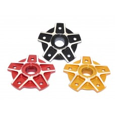 Ducabike 'SQUARE' Contrast Cut 5 Hole Rear Sprocket Hub Flange Carrier for the Ducati 749/916/996/998  Monster 796/1100/S2R/S4R/S4RS  Hypermotard 796/1100/821/939  and Multistrada 1000/1100