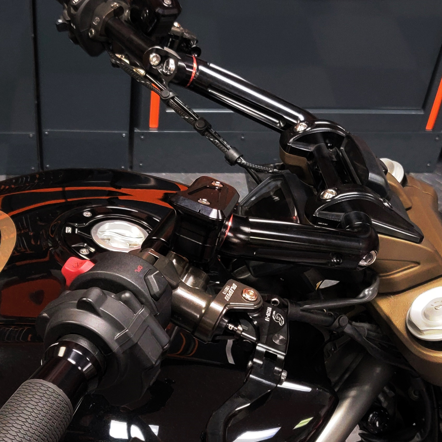 AELLA Aluminum Variable Handlebars for the Ducati Xdiavel