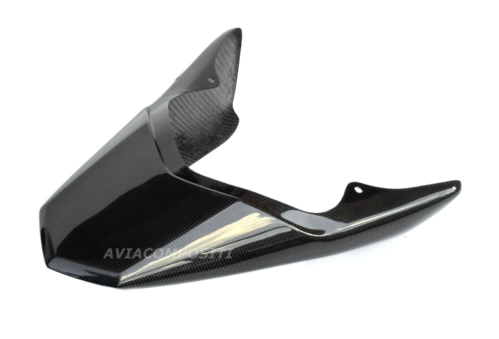 AviaCompositi Carbon Fiber RACING Tail For Single Muffler Exhaust for Ducati Hypermotard 1100 / Evo / 796
