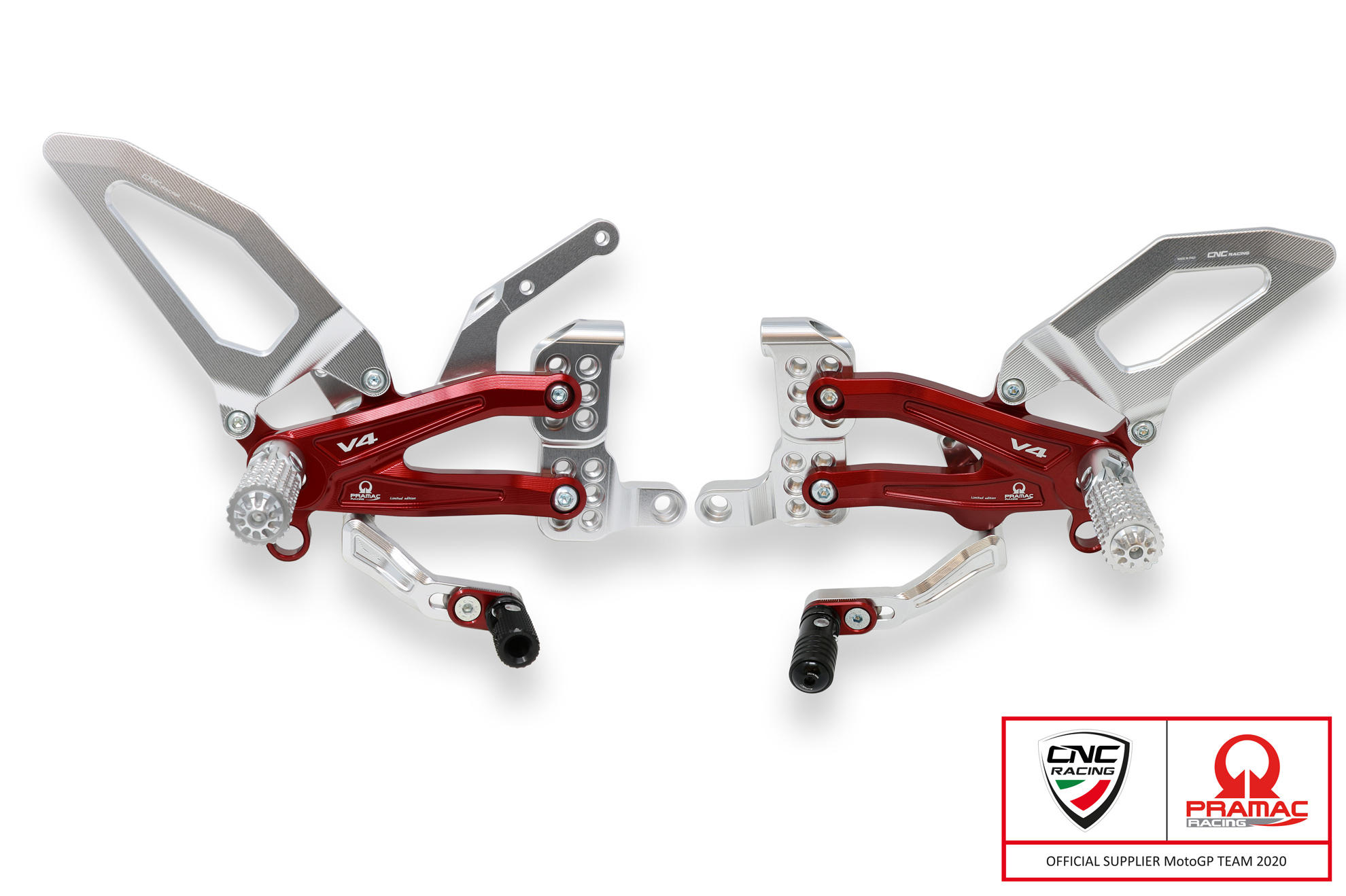 CNC Racing PRAMAC RACING LIMITED EDITION RPS Adjustable Rearset for the Ducati Streetfighter V4
