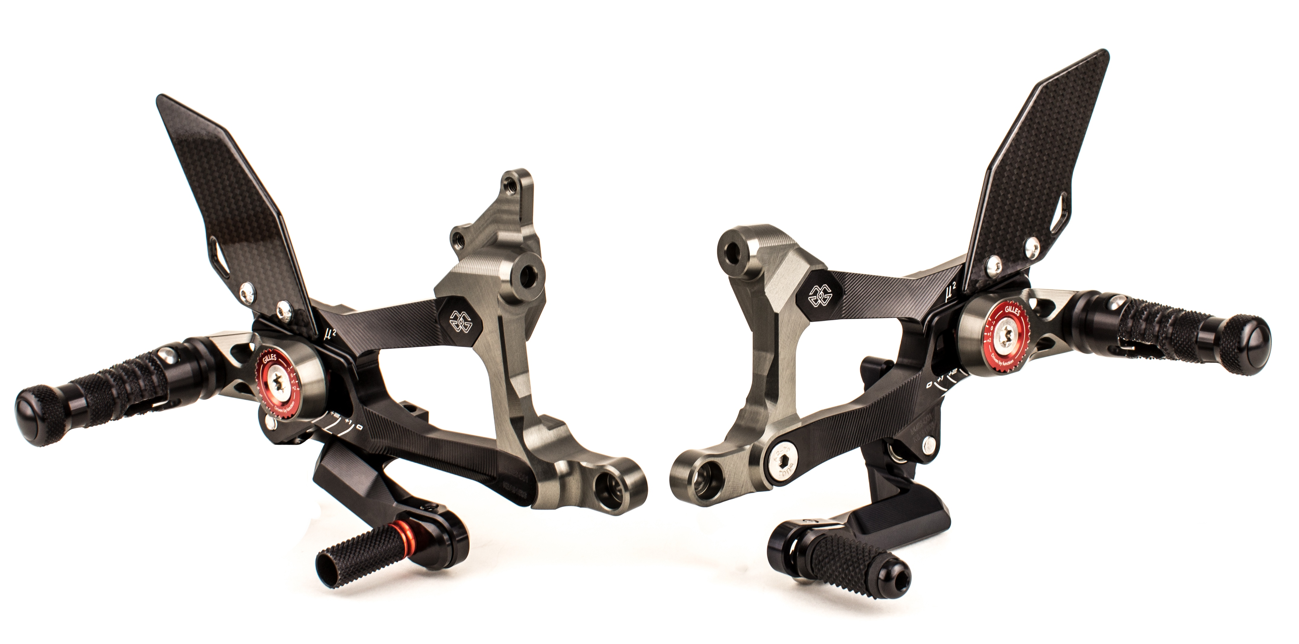 Gilles MUE2 Rearsets for Ducati Panigale V4 / S / Speciale (2018+)