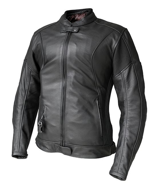 Helite XENA Women's Leather Airbag Jacket in Black
