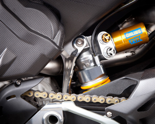 Motocorse Billet Aluminum Rear Shock support for Ducati Panigale / Streetfighter V4 / S / R / Speciale