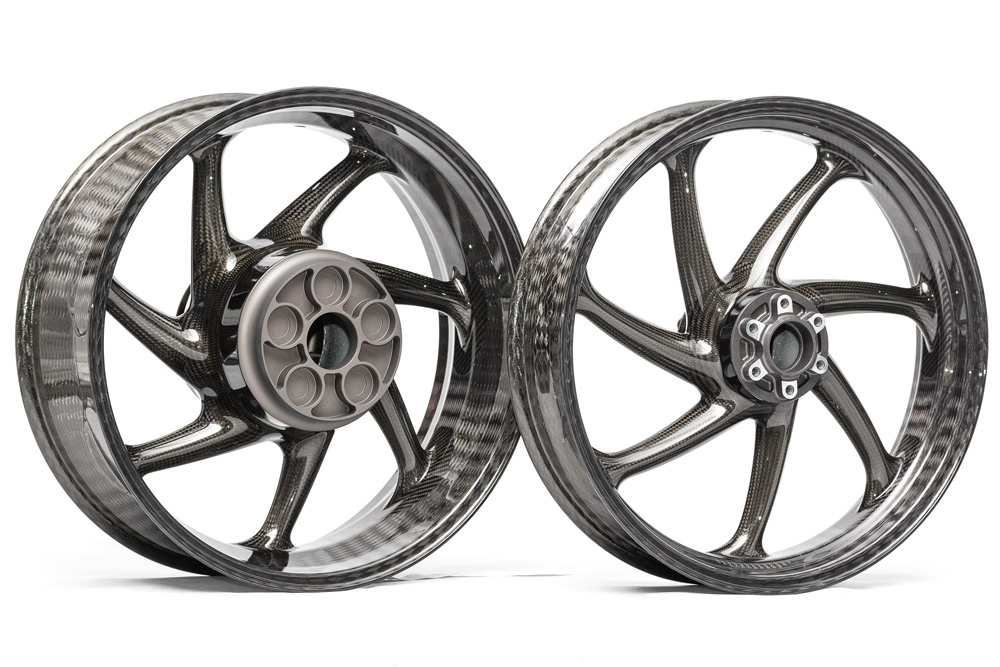Thyssenkrupp Style 1 Braided Carbon Fiber Wheels for the 2020+ BMW S1000RR