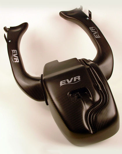 EVR Carbon Fiber Airbox and Ducts for the Ducati 848/1098/1198