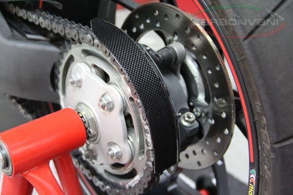 Ducati Hypermotard 796//1100 Rear Chain Sprocket Mud Splash Guard Carbon Fiber